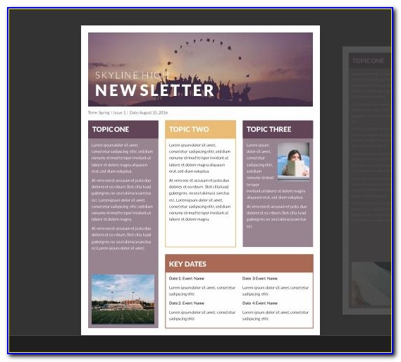 Free Newsletter Templates Word 2007