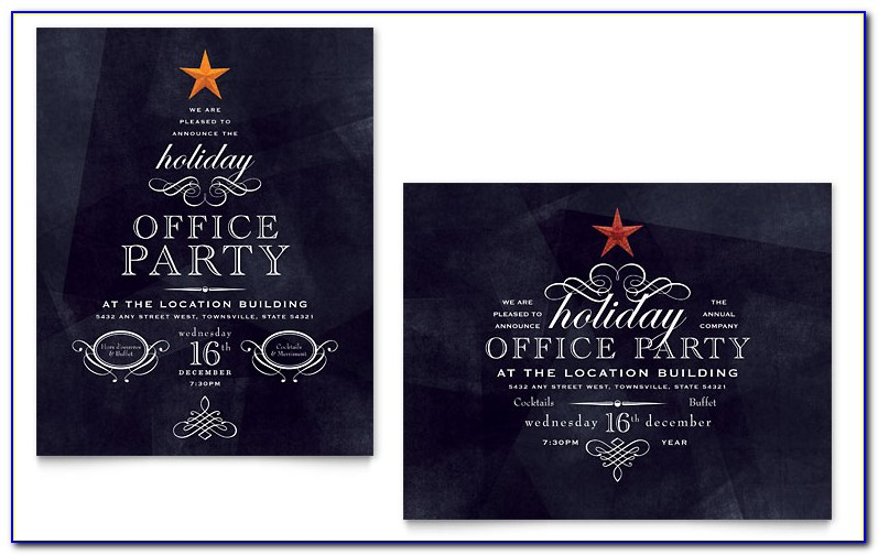 Free Office Christmas Party Invitations Templates