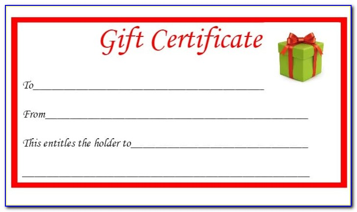 Free Online Gift Certificate Maker Template