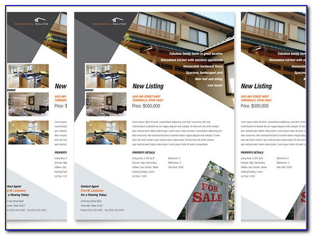Free Online Real Estate Brochure Templates