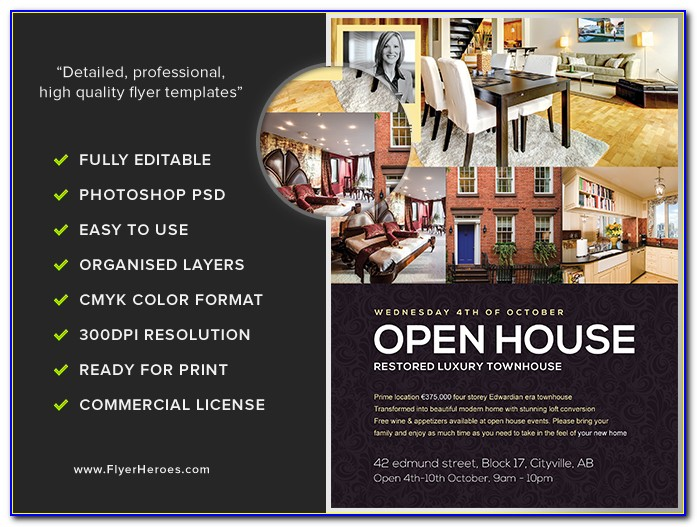 Free Open House Flyers Samples