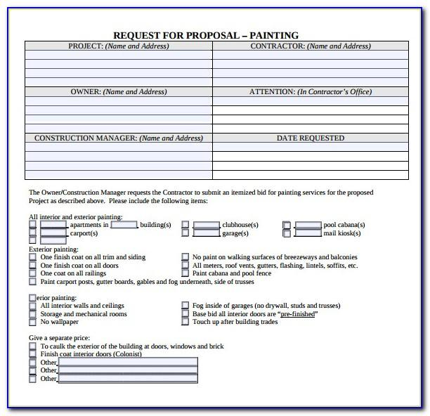 Free Painting Proposal Template Download