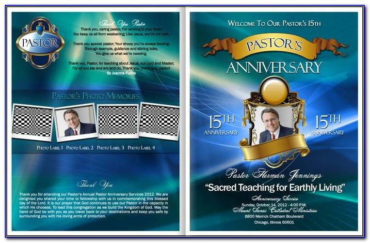 Free Pastor And Wife Anniversary Program Template