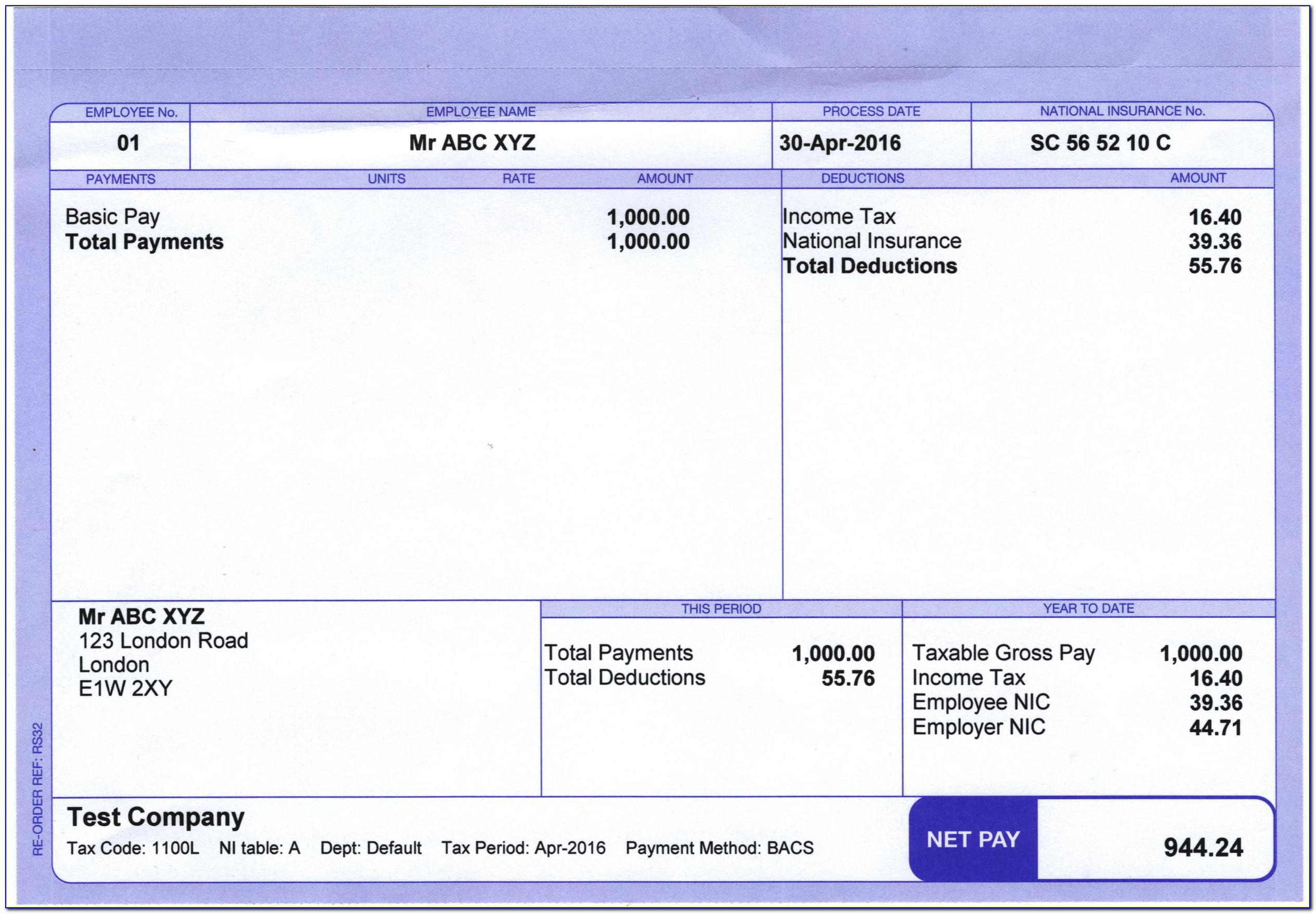 Free Payslip Template Excel South Africa
