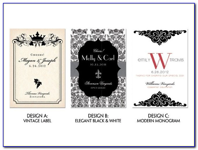 Free Personalised Wine Bottle Label Template