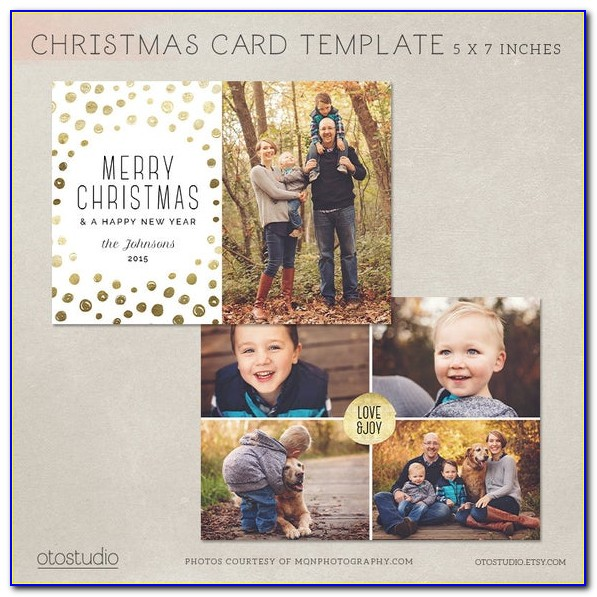 Free Photoshop Christmas Card Templates For Photographers