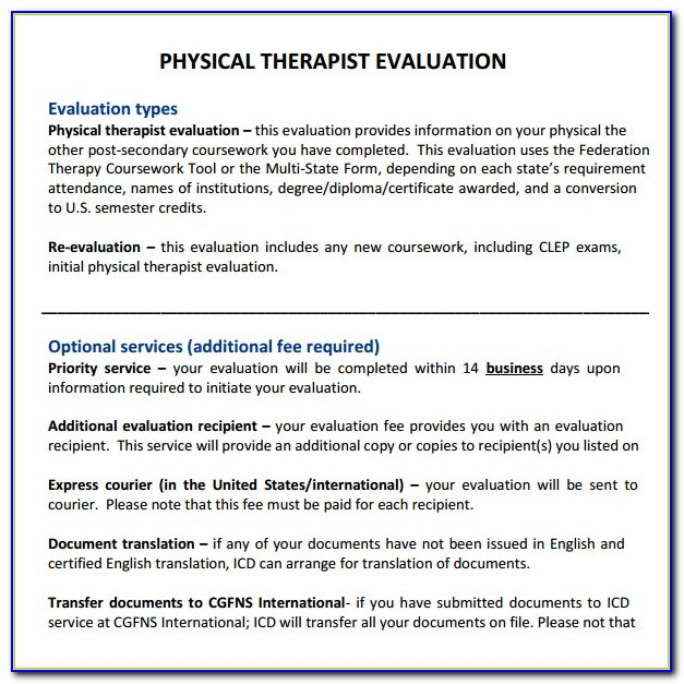 Free Physical Therapy Documentation Templates