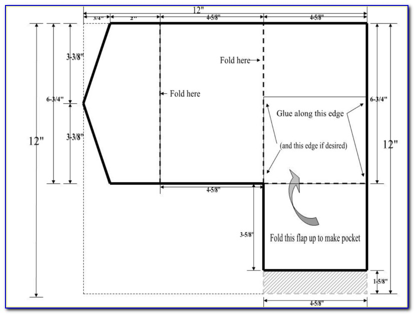 Free Pocket Envelope Template