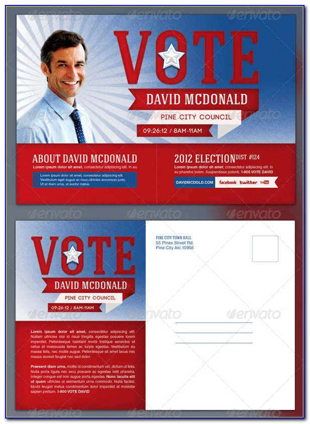 Free Political Postcard Template