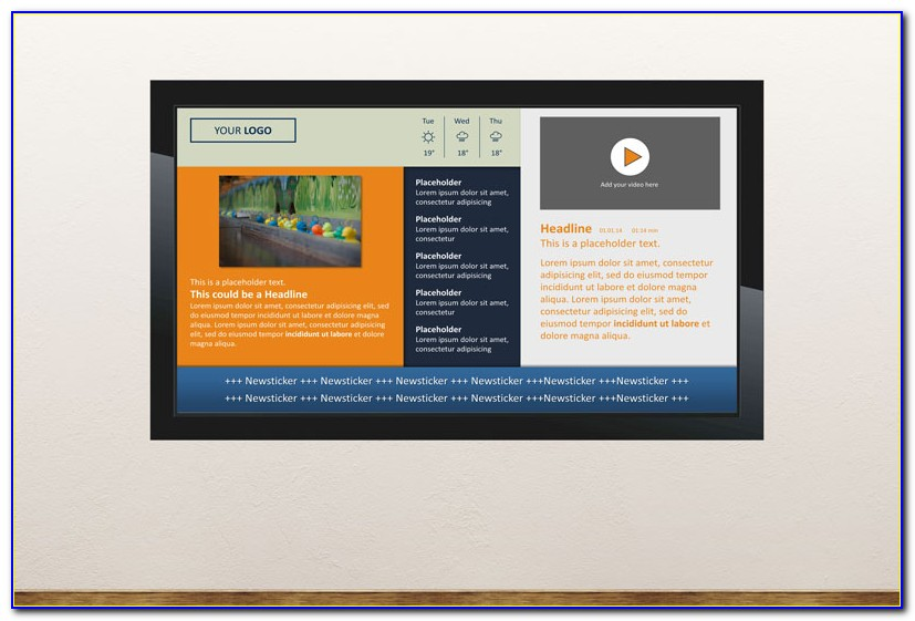 Free Powerpoint Digital Signage Templates
