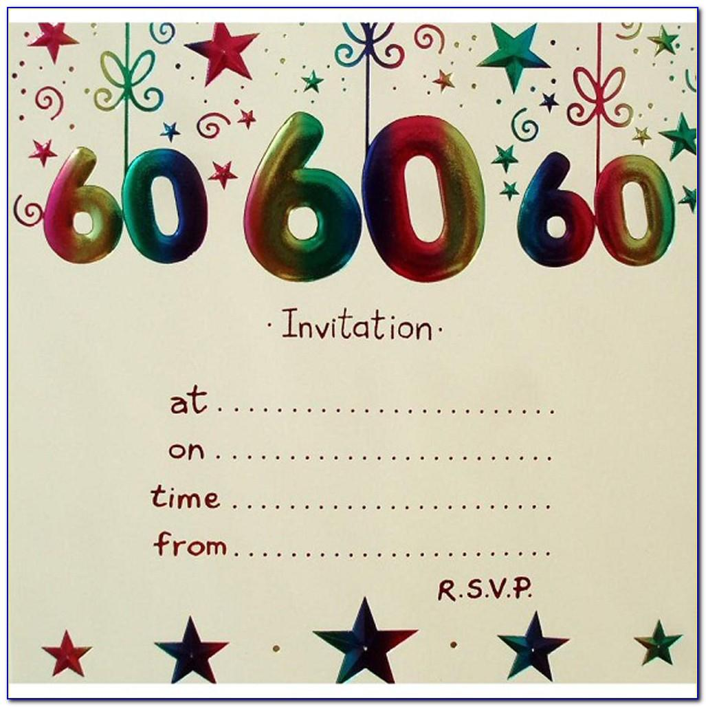 Free Printable 60th Birthday Invitations Templates