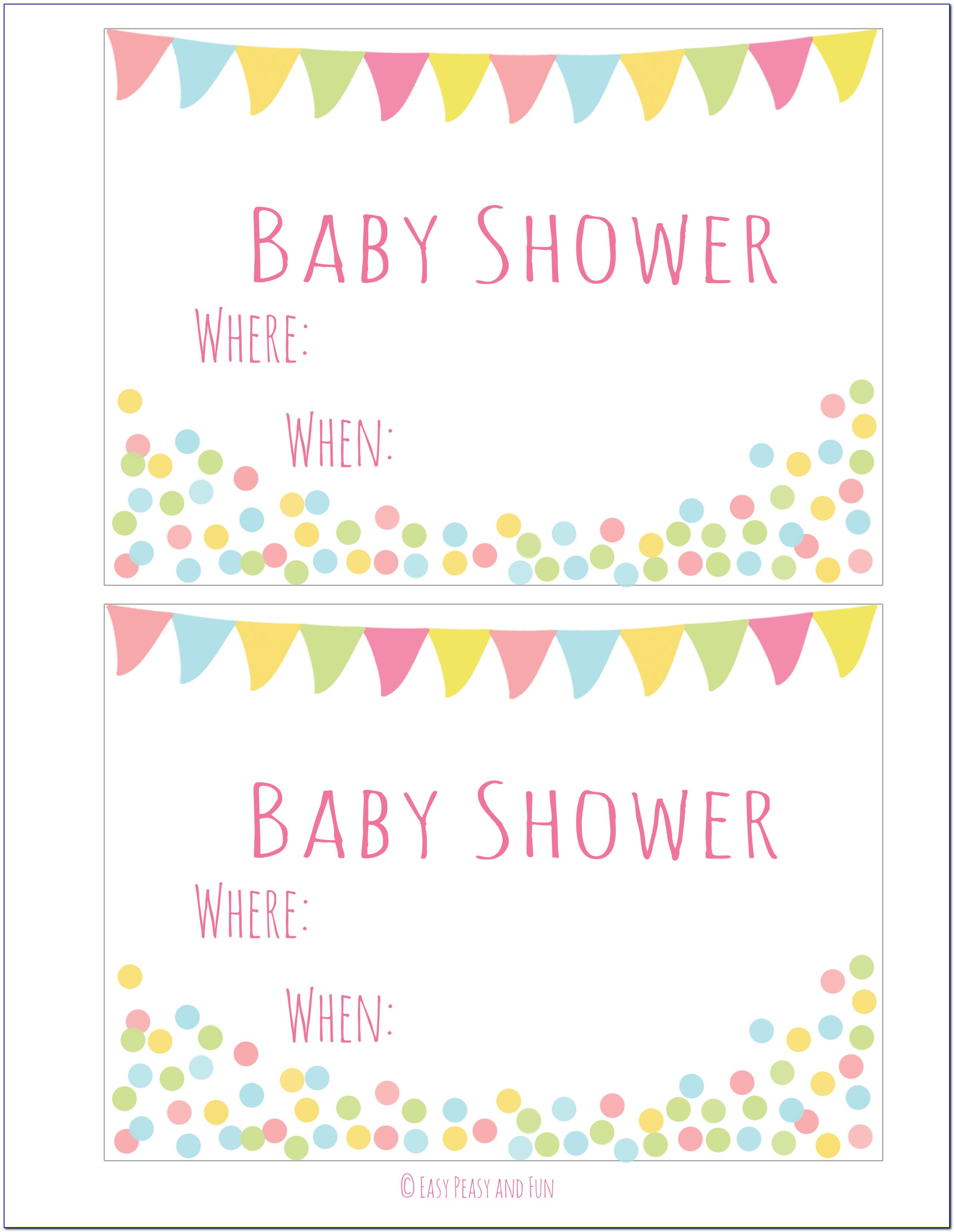 Free Printable Baby Shower Invitations Templates For Girl