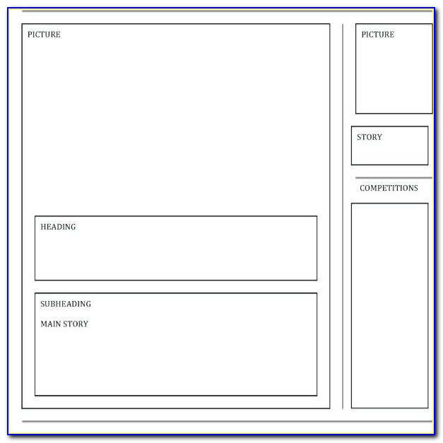 Free Printable Blank Newsletter Templates