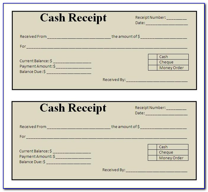 Free Printable Blank Receipt Form