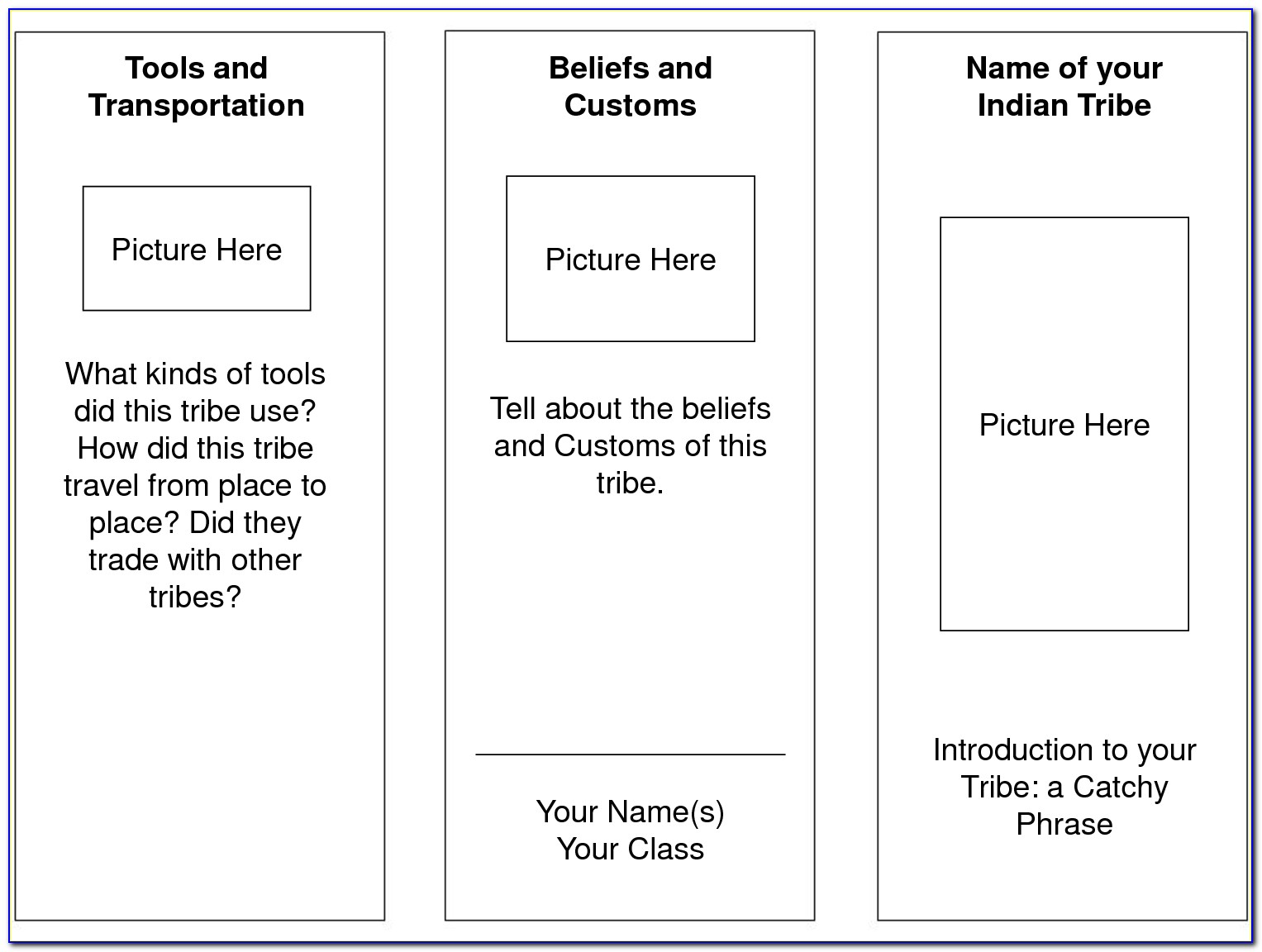 Free Printable Brochure Templates For Students