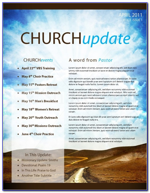 Free Printable Christian Newsletter Templates