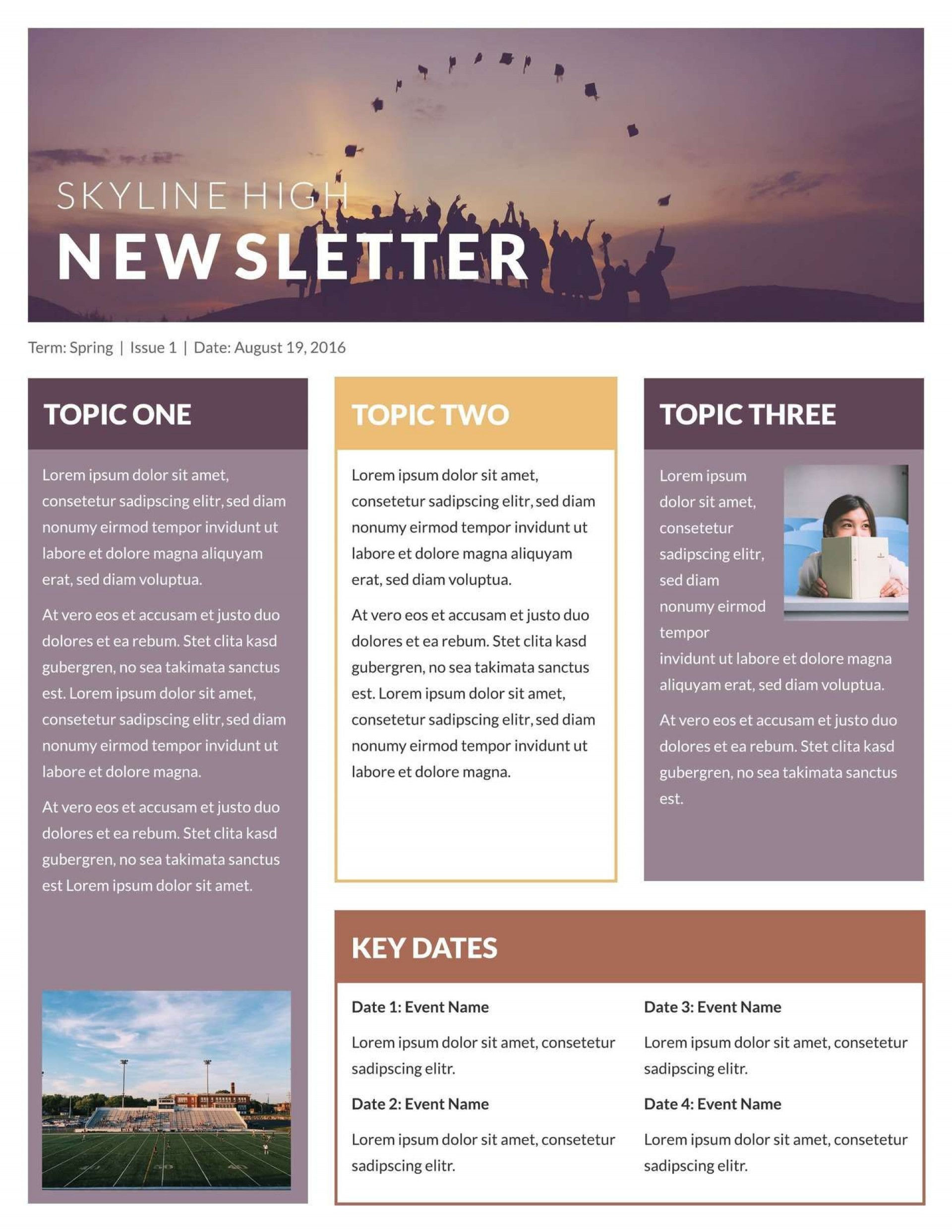 Free Printable Church Newsletter Templates
