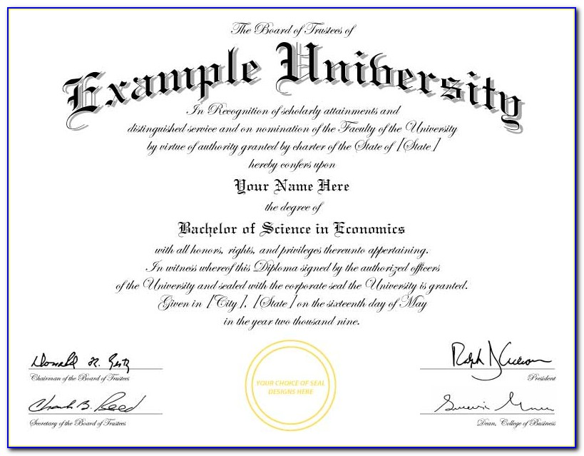 Free Printable College Diploma Templates