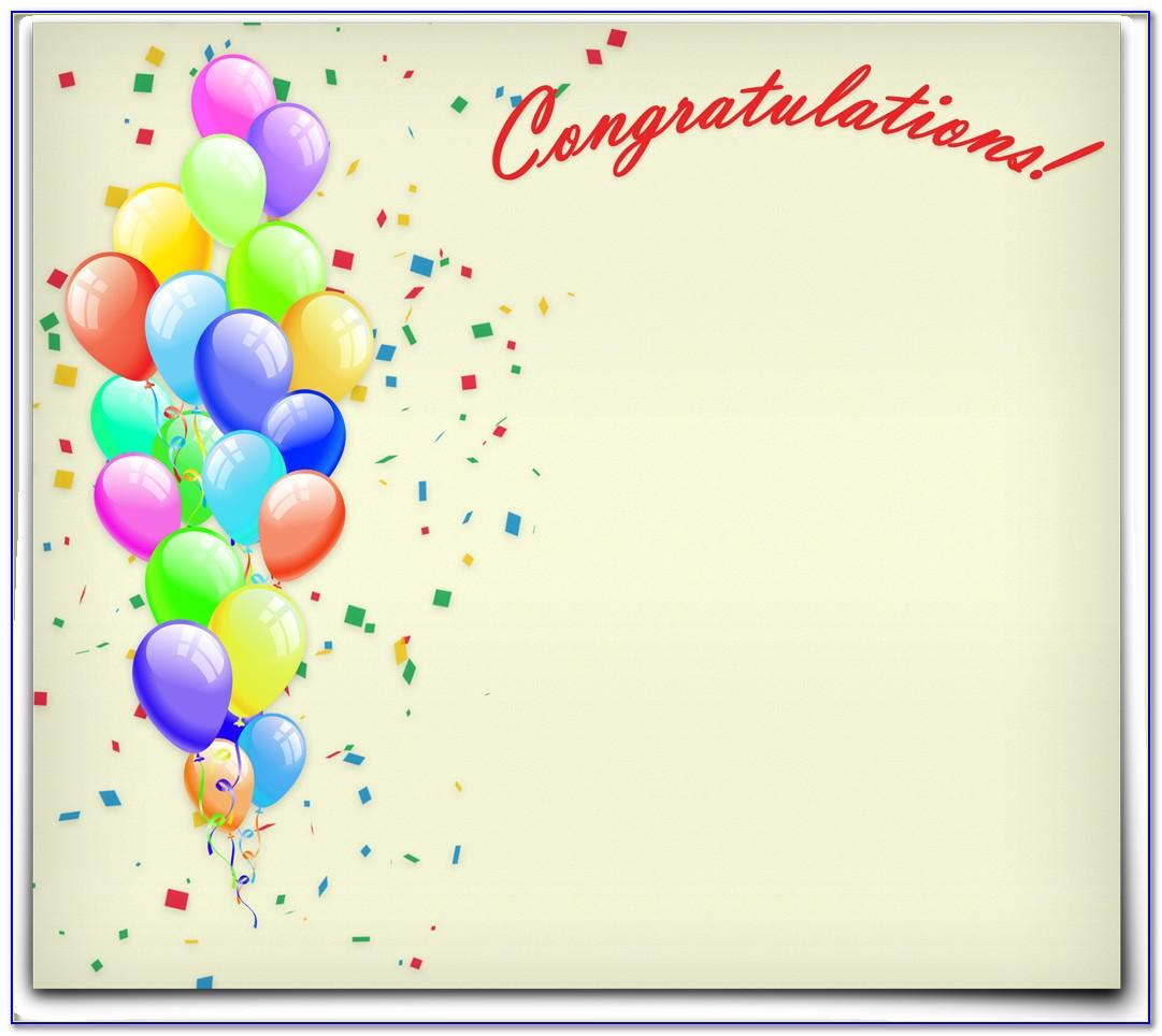 Free Printable Congratulations Card Templates