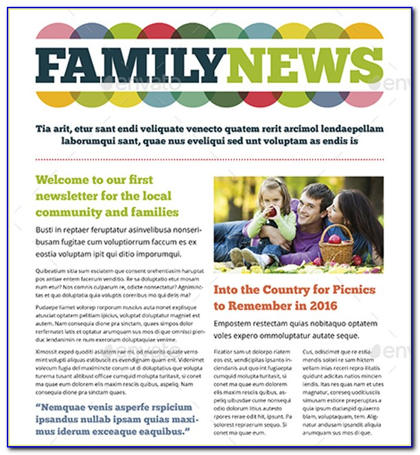 Free Printable Family Newsletter Templates