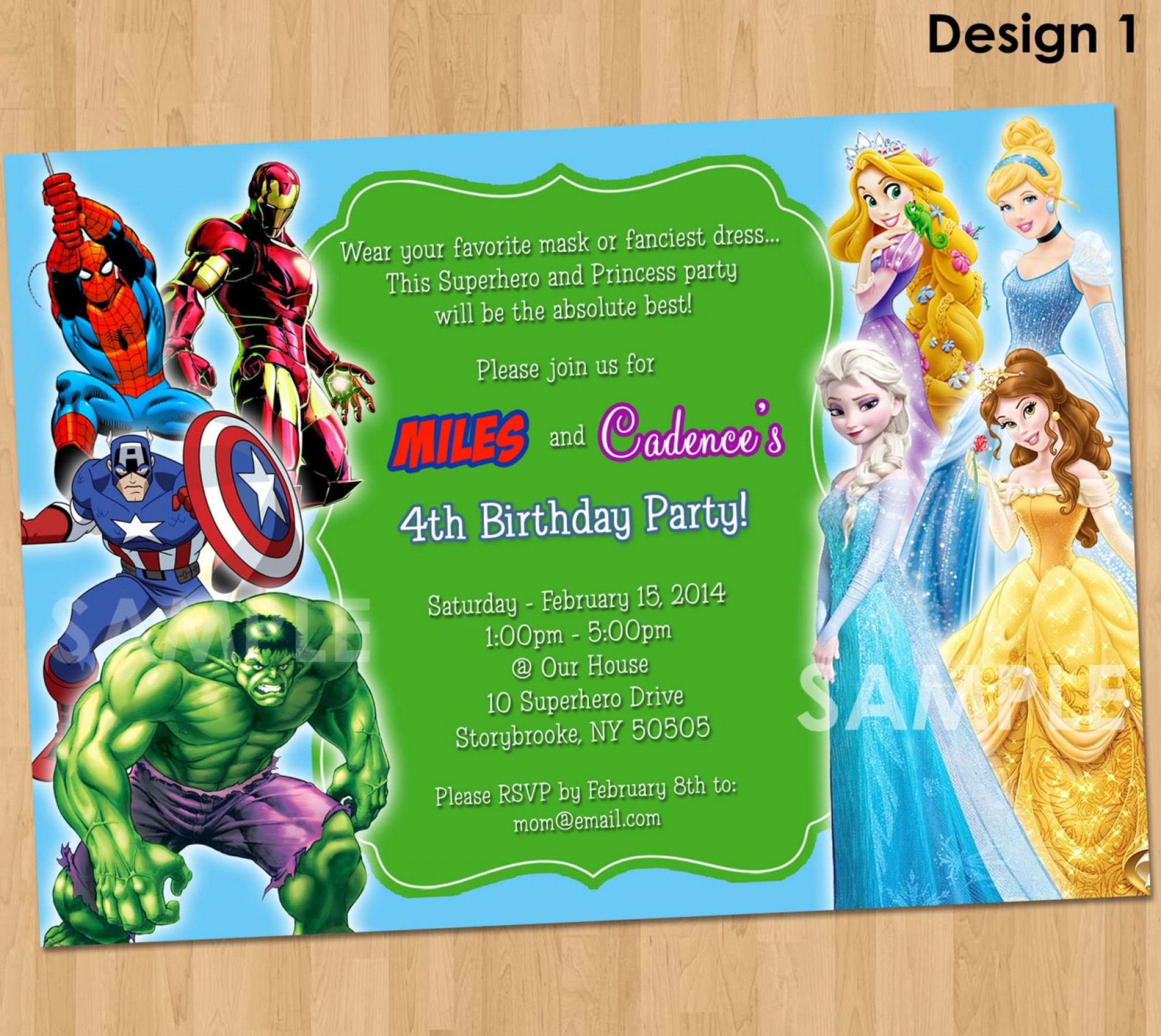 Free Printable Girl Superhero Birthday Invitation Templates
