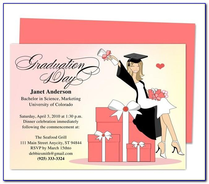 Free Printable Graduation Party Invitation Templates