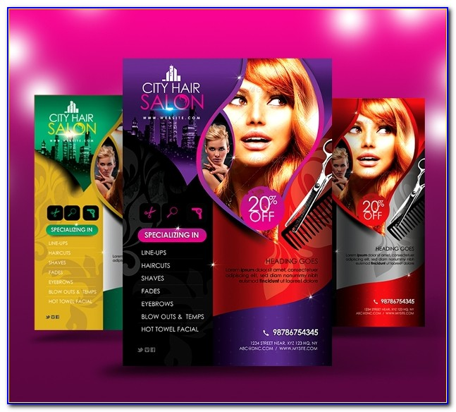 Free Printable Hair Salon Flyer Templates