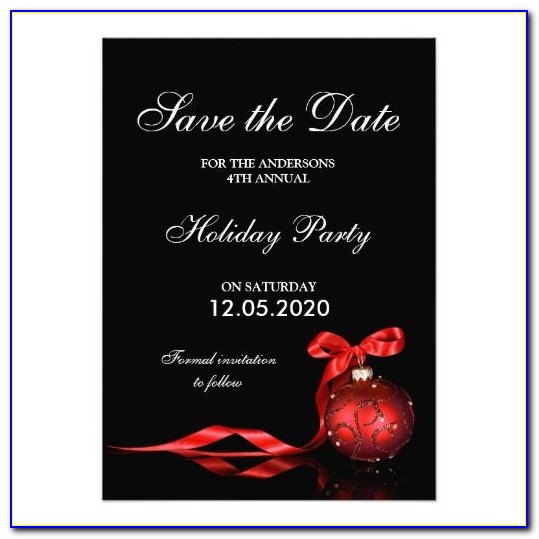 Free Printable Holiday Party Save The Date Templates