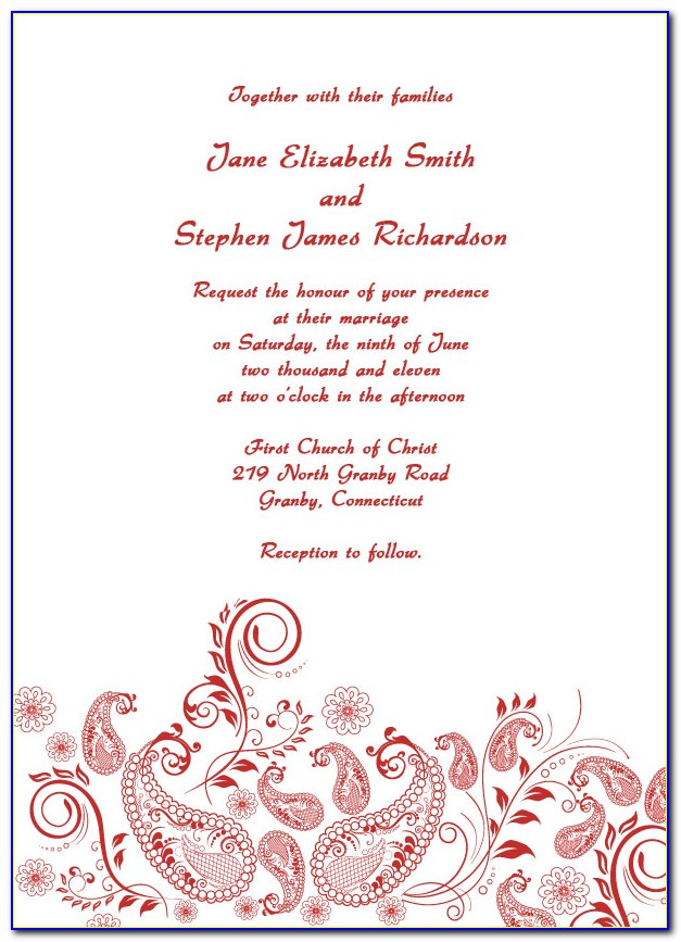 Free Printable Invitation Templates For Wedding