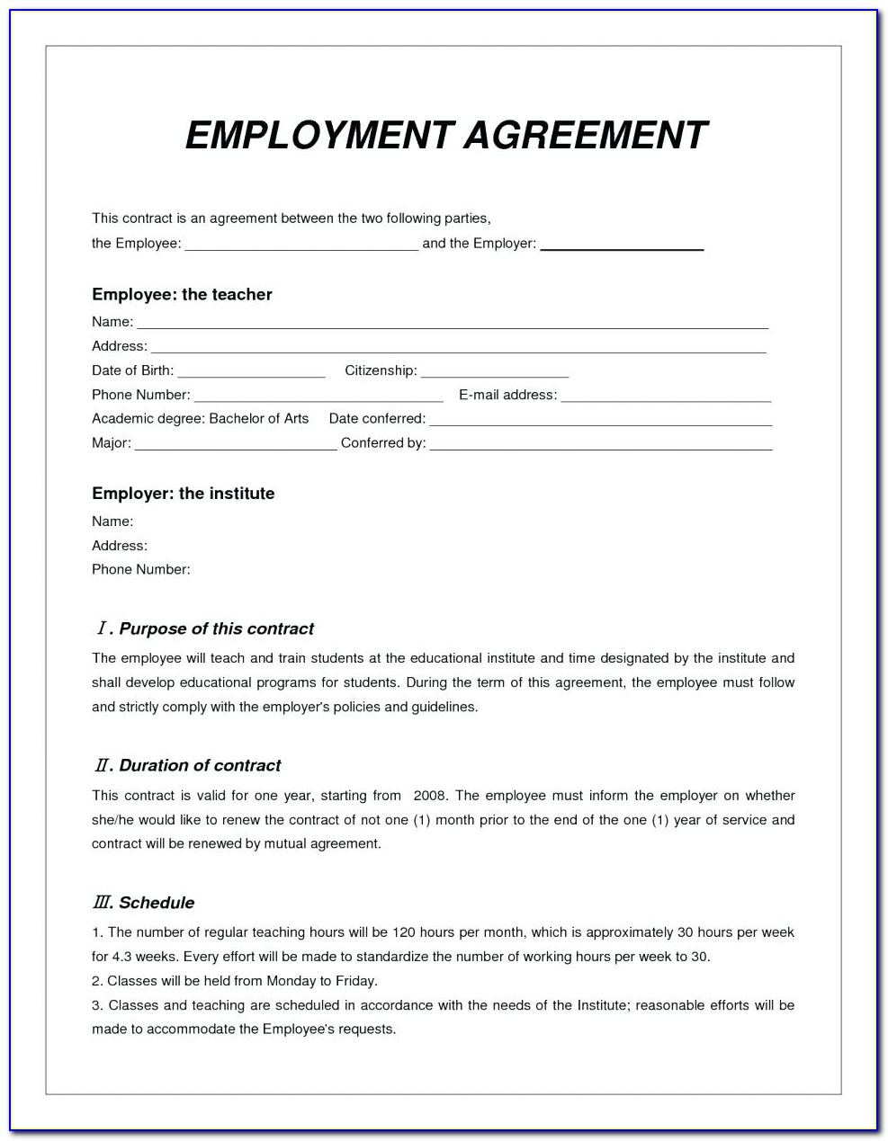 Free Printable Loan Agreement Template