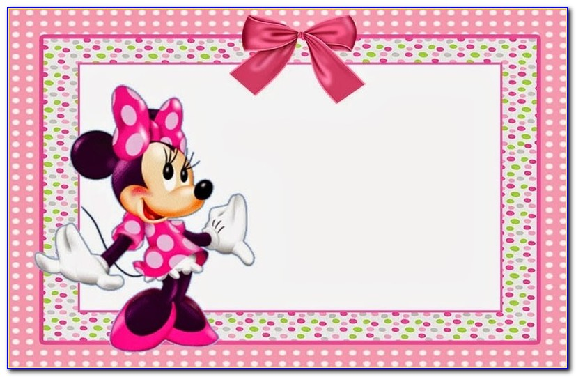 Free Printable Minnie Mouse Baby Shower Invitations Templates