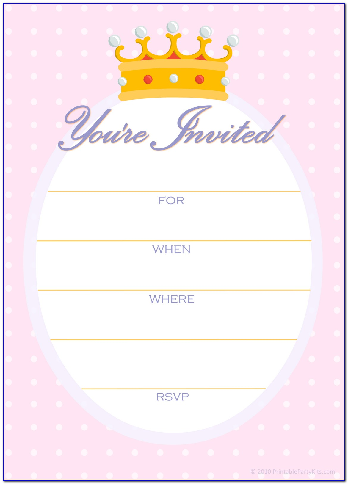 Free Printable Party Invite Templates