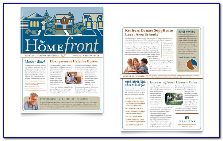 Free Printable Real Estate Newsletter Templates