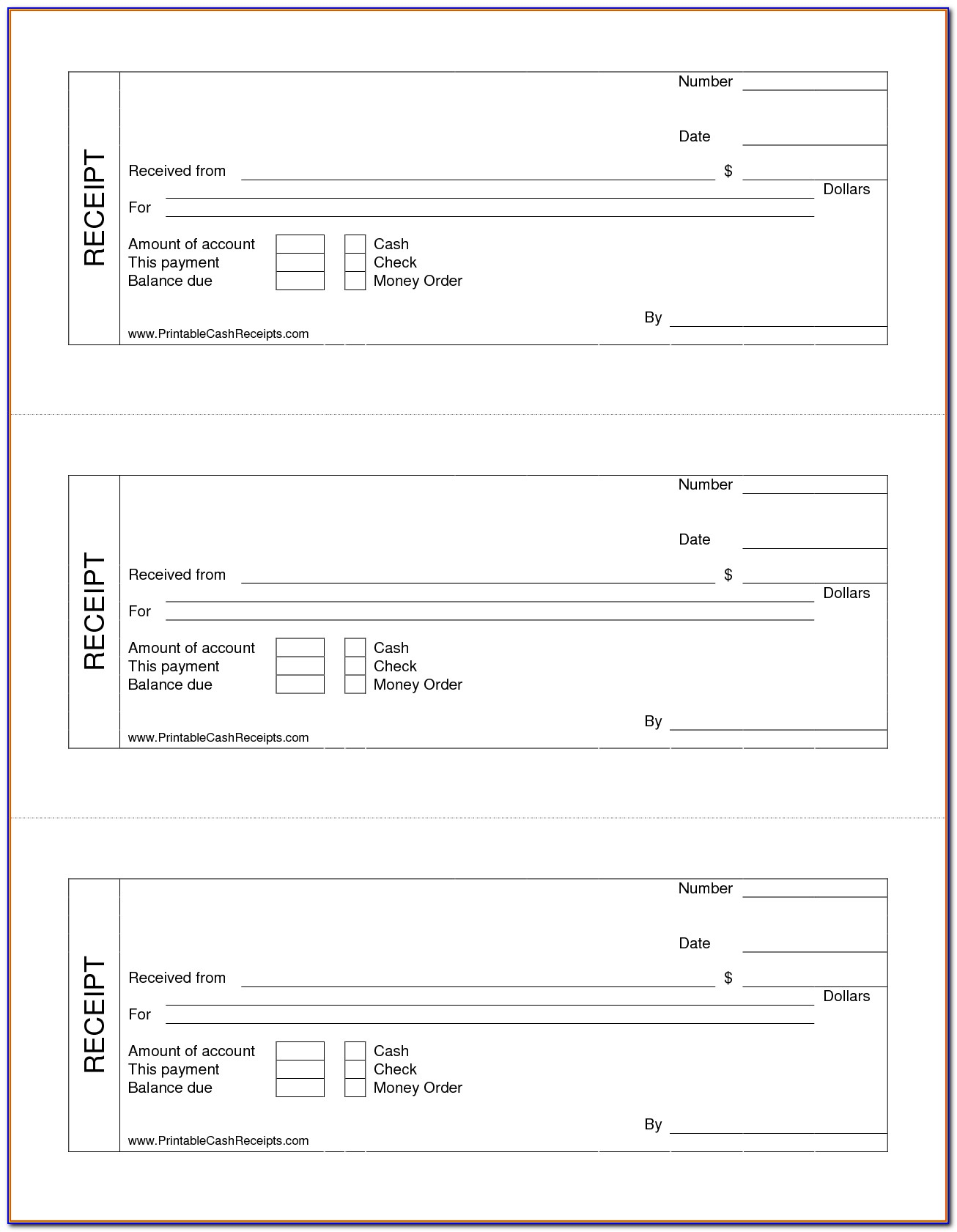 Free Printable Receipt Sample