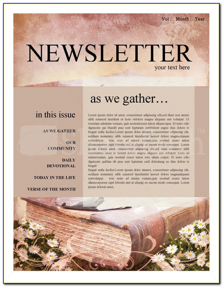 Free Printable Religious Newsletter Templates