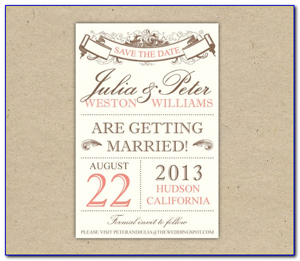 Free Printable Rustic Save The Date Templates