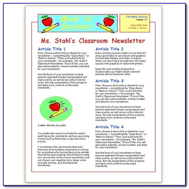 Where To Find Free Church Newsletters Templates For Microsoft Word Free Classroom Newsletter Templates For Microsoft Word Free Classroom Newsletter Templates For Microsoft Word