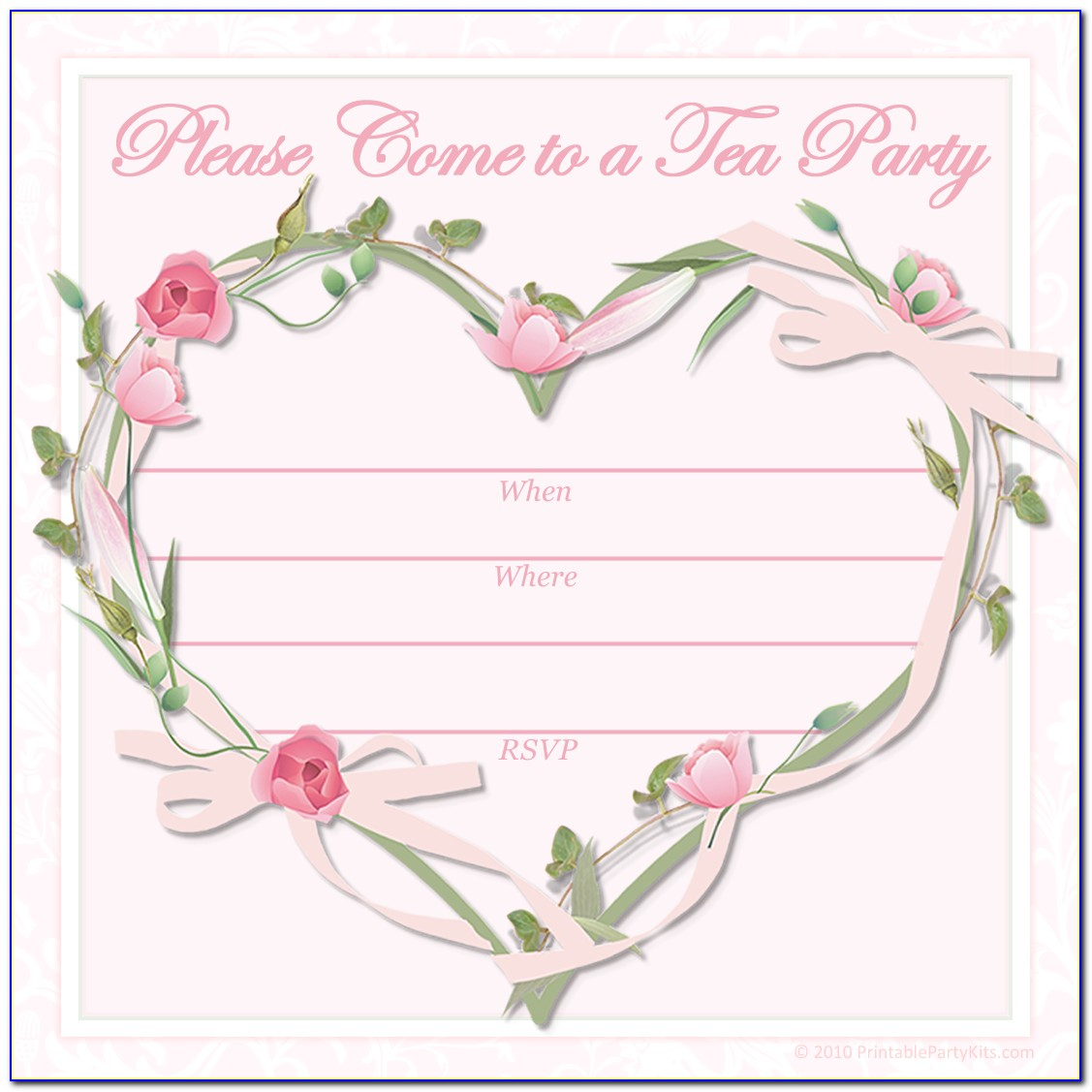 Free Printable Tea Party Invitation Templates