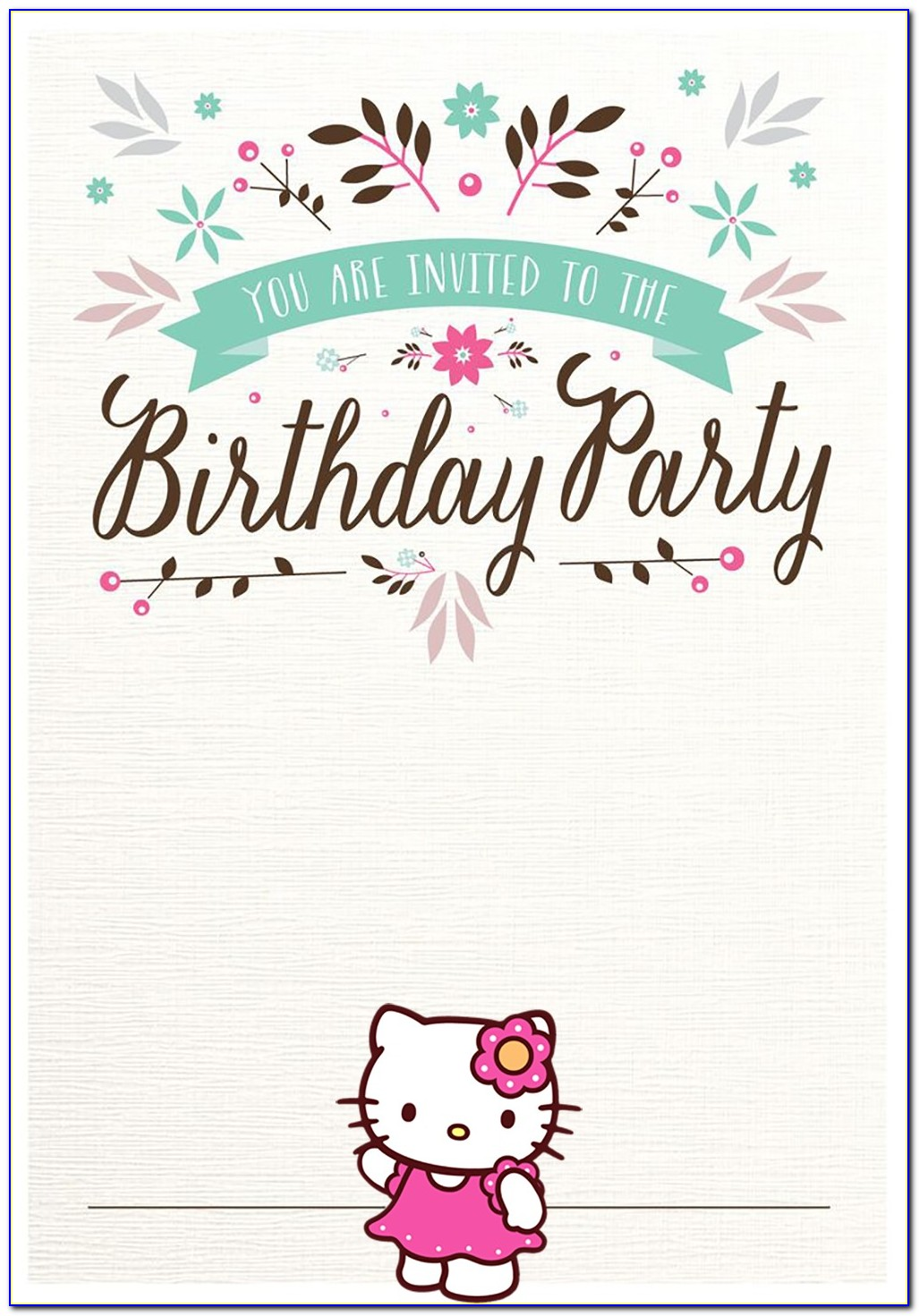 Free Printable Templates For Birthday Invitations