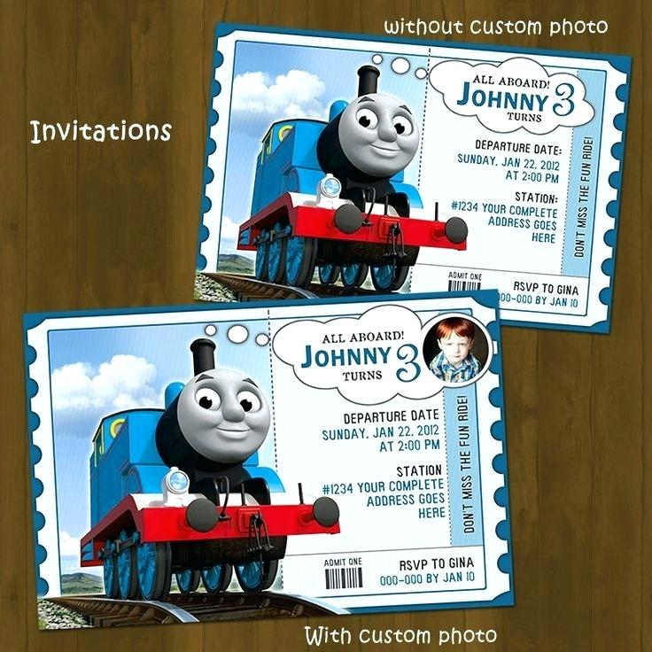Free Printable Thomas The Train Birthday Invitations Template