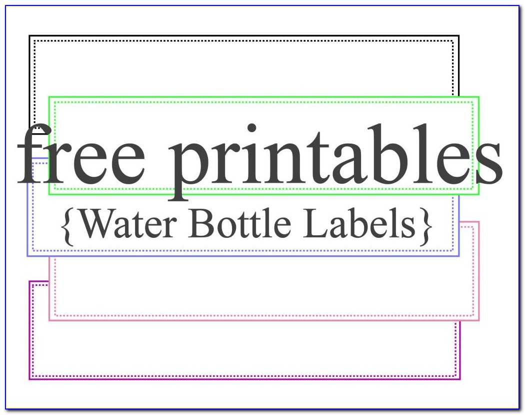 Free Printable Water Bottle Labels Template For Graduation