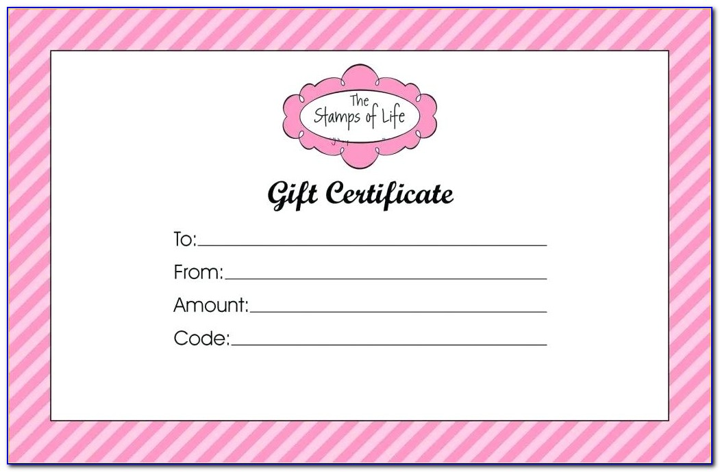Free Professional Gift Certificate Template