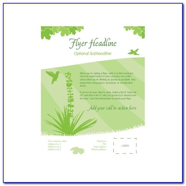 Free Publisher Templates For Flyers
