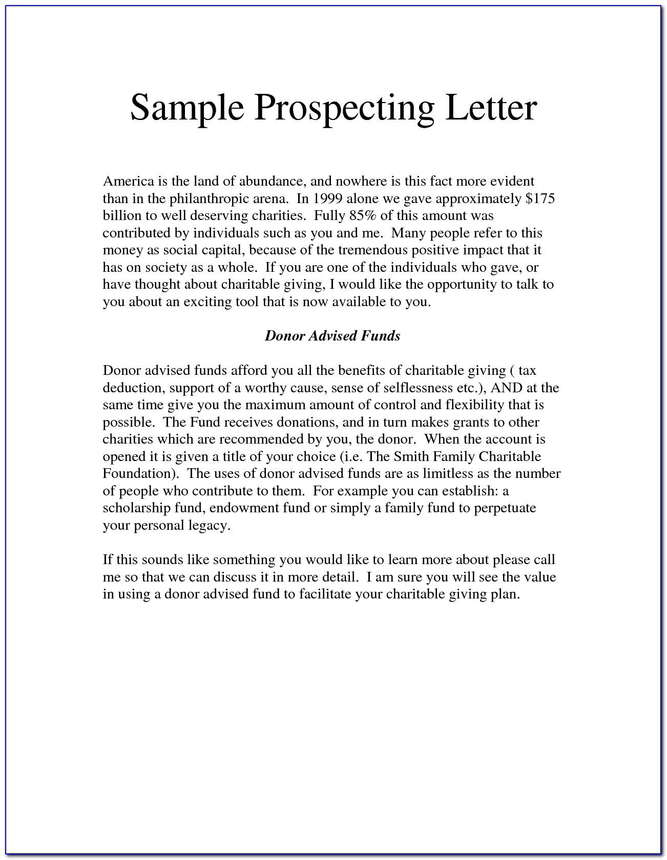 Free Real Estate Prospecting Letter Templates