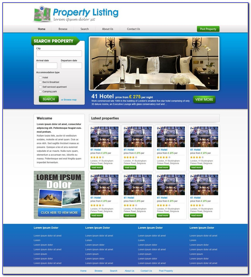 Free Real Estate Website Templates Html5