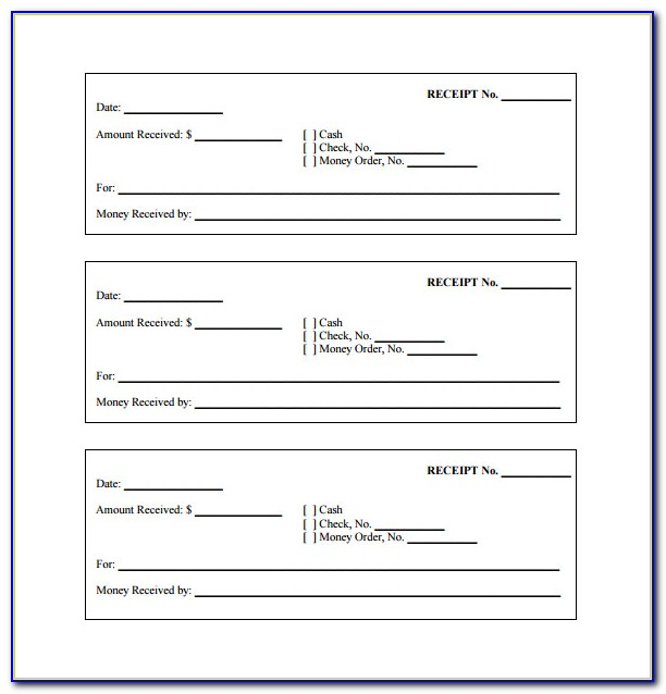 Free Receipt Template Printable