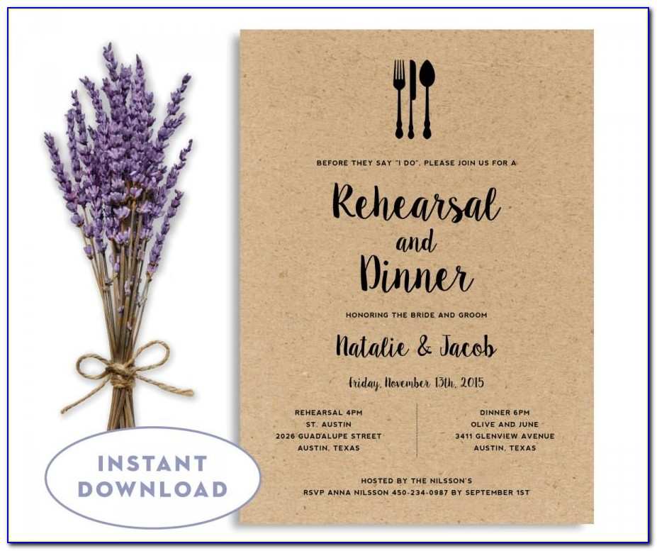 Free Rehearsal Dinner Invitation Template Word