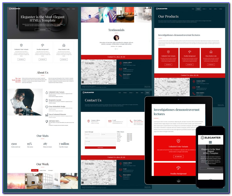 Free Responsive Website Templates Download Html And Css