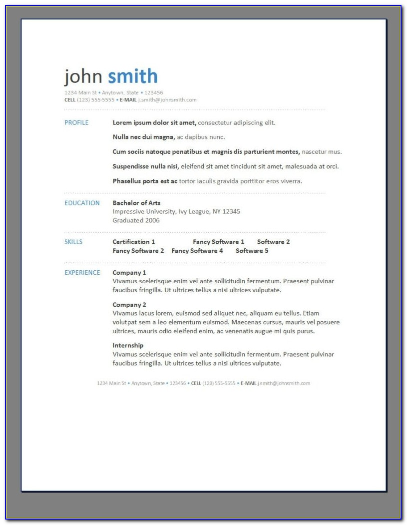 Free Resume Creator For Freshers