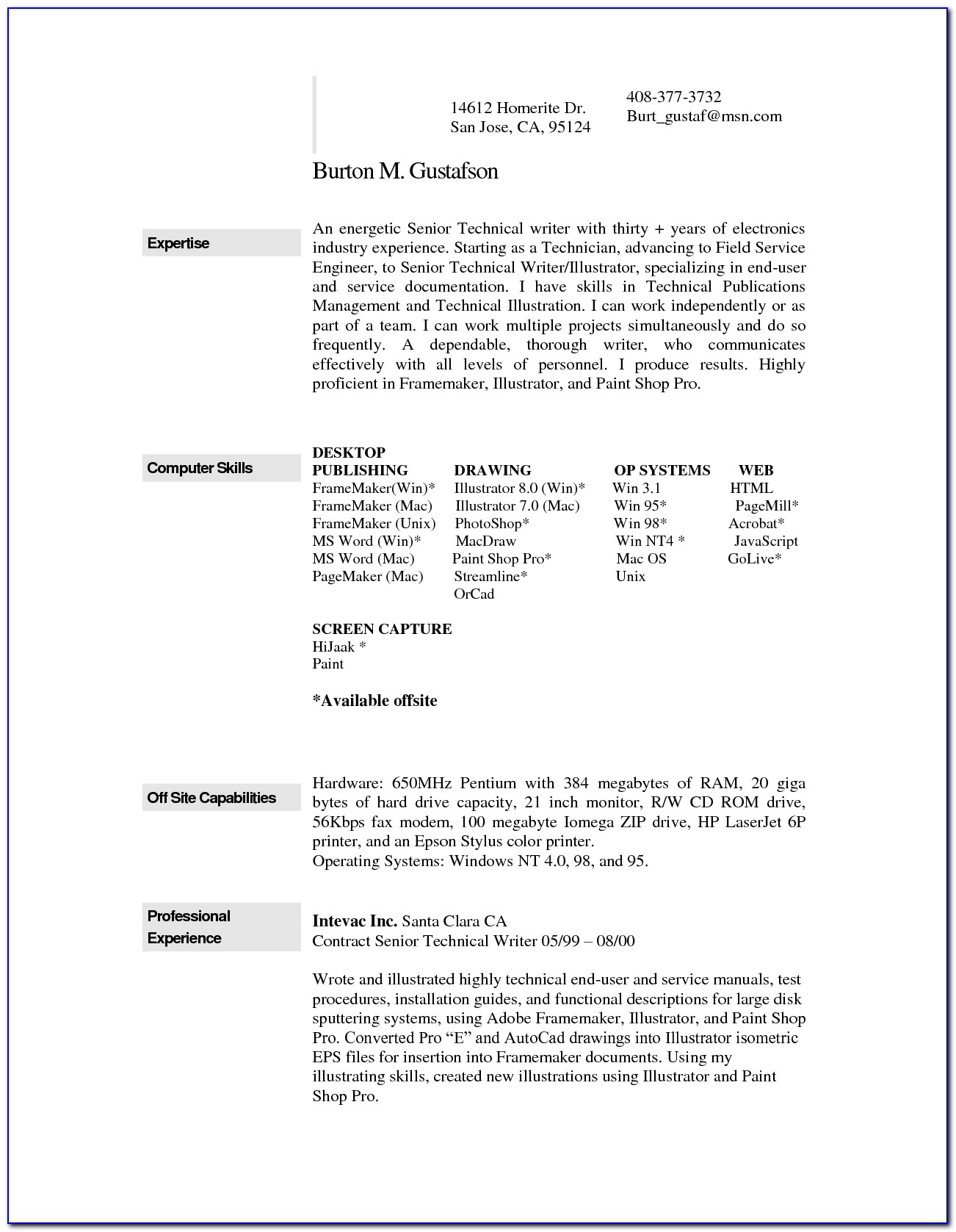 Free Resume For Food Preparation Worker